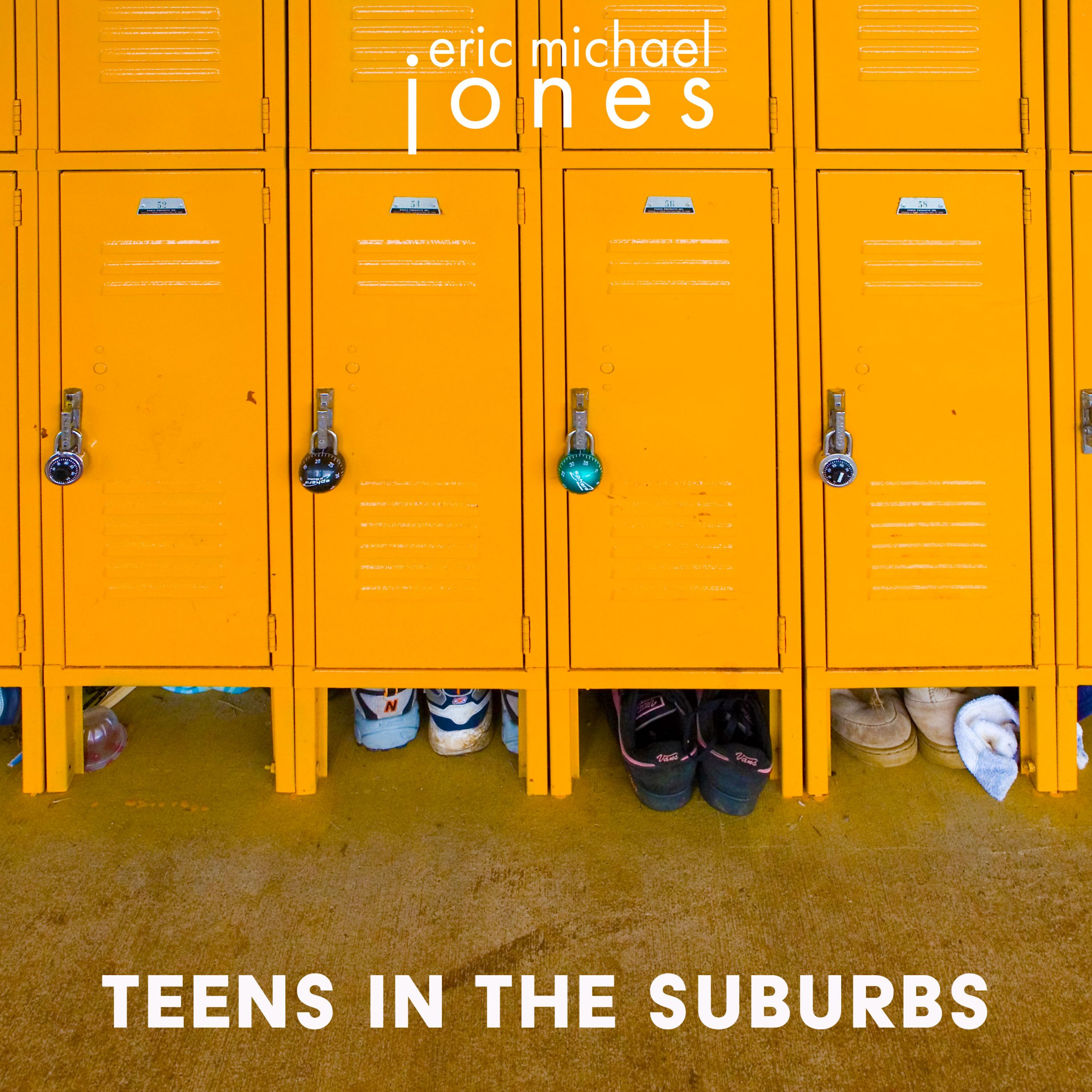 Cover art for Teens In The Suburbs, showing a row of yellow school lockers