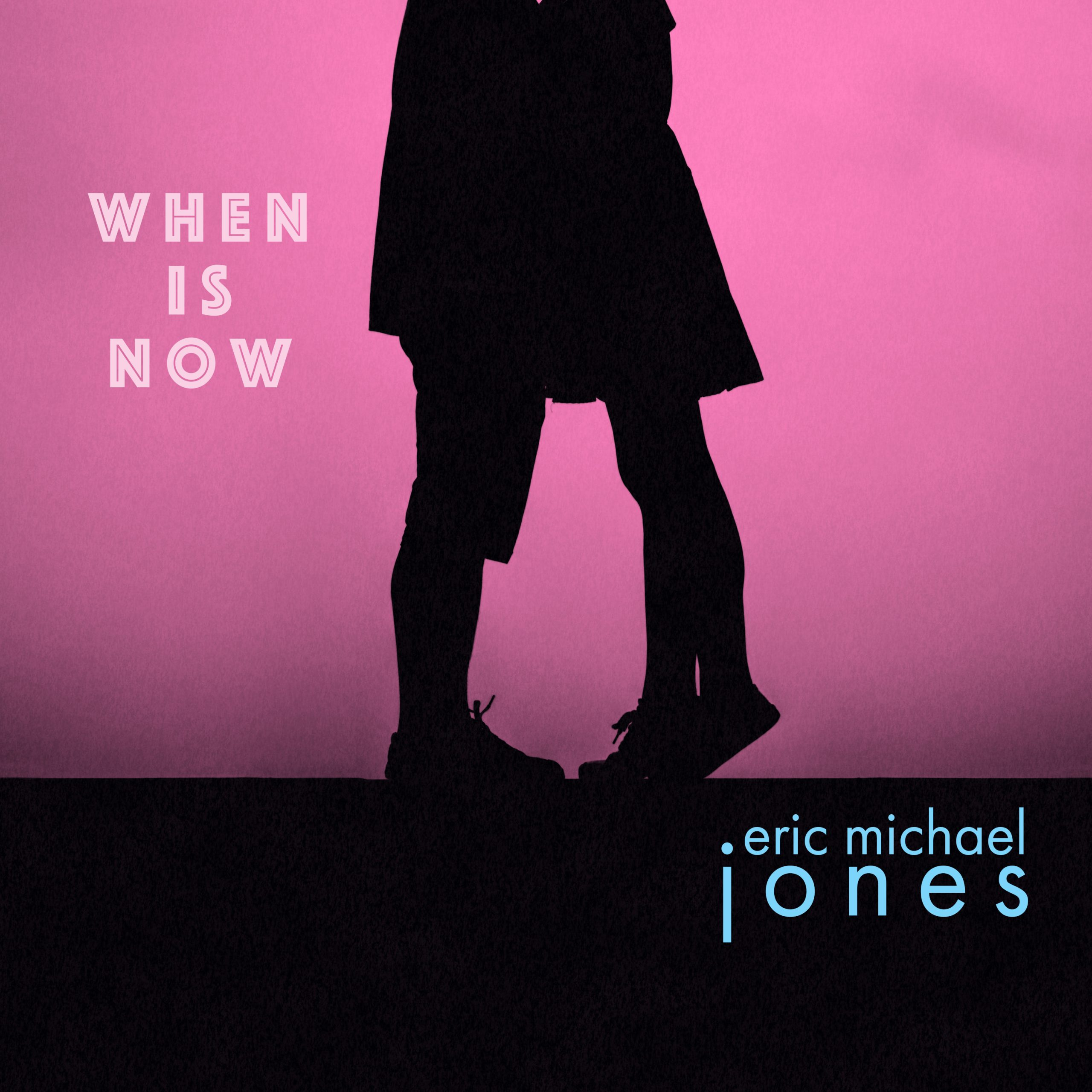 Cover art for When Is Now, showing the silhouette of two lovers kissing