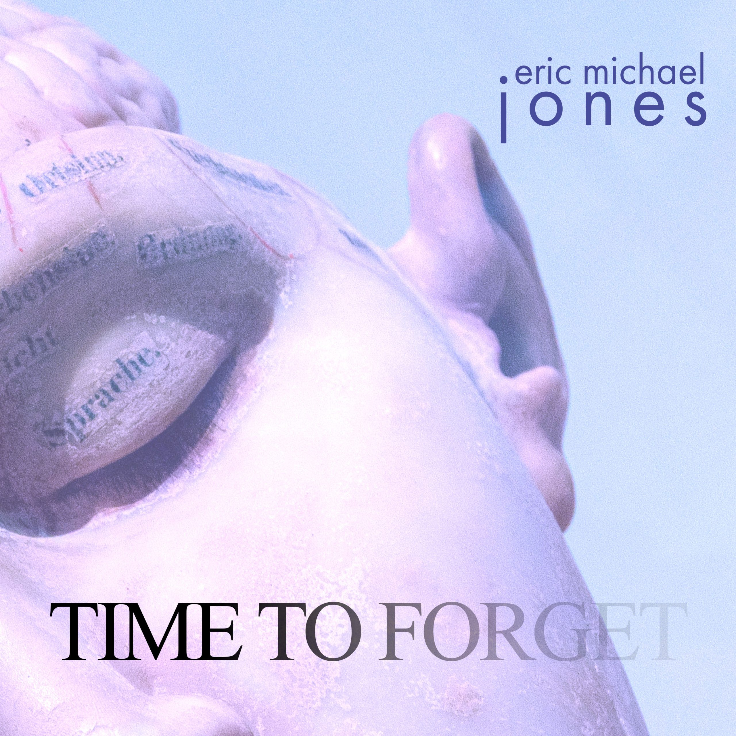 Cover art for Time To Forget showing a sculpture of a head with the brain exposed