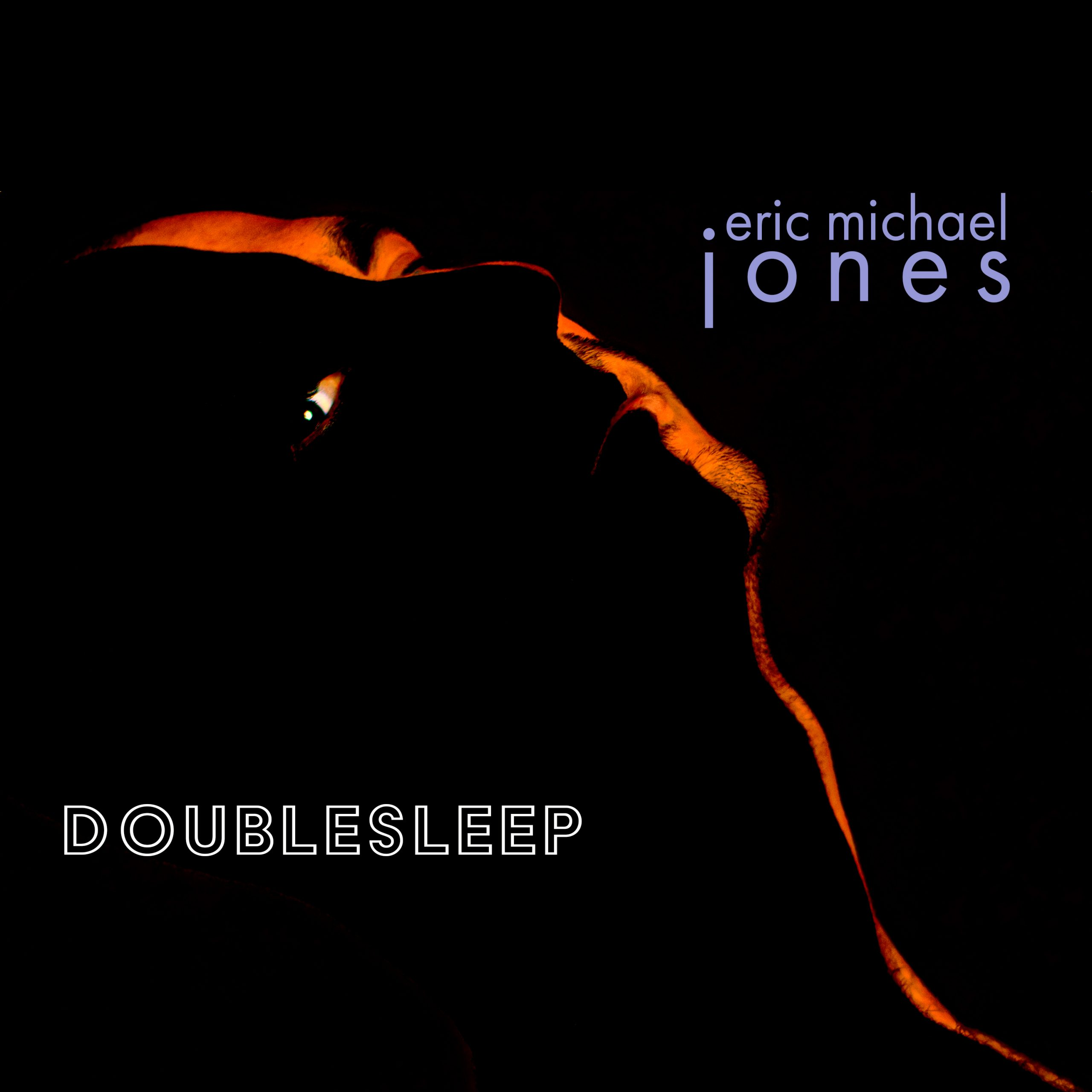 Cover art for Doublesleep, showing the dimly lit outline of a man's face