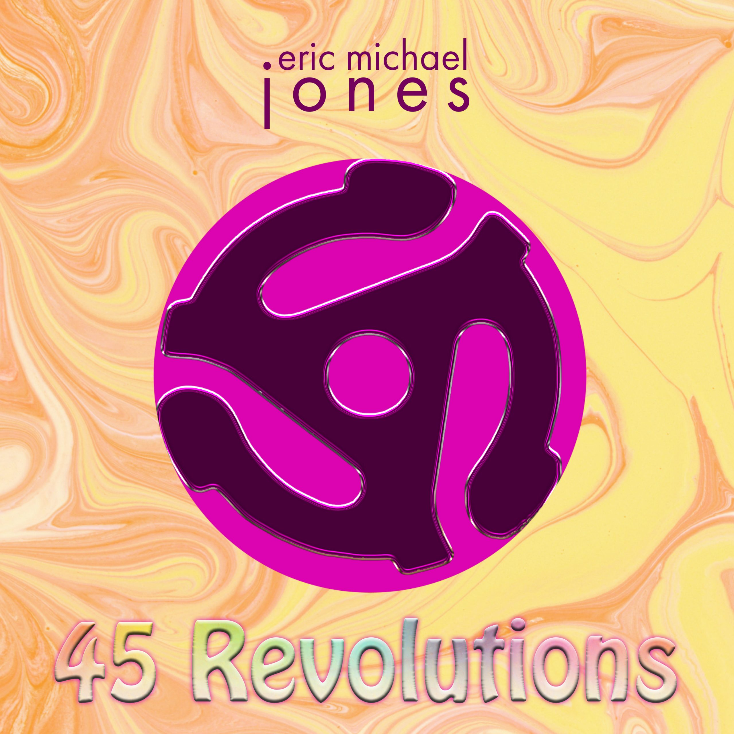 Cover art for 45 Revolutions, showing a graphic of a 45 rpm spindle adaptor